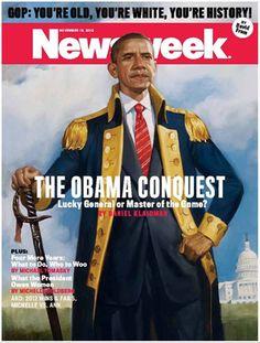 Revista Newsweek (EEUU) - 19 de noviembre de 2012. Primera portada tras la reelección de Obama. http://www.thedailybeast.com/newsweek/2012/11/08/fortunate-one.html