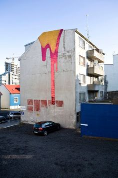 Reykjavik, Iceland 2008 #volcano, #street art