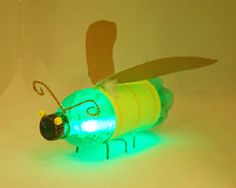 This adorable firefly is a quick and easy recycled craft that is fun for the kids!