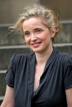 Julie Delpy - I love this image…freshness of her face and hair, and the softness of her blouse