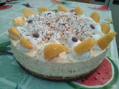 Grízes barackos torta Dairy, Cheese, Cake, Food, Mudpie, Meals, Yemek, Cheeseburger Paradise Pie, Cakes