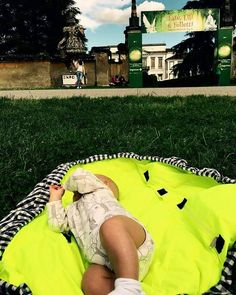 Baby changing backpack open fluo by oh-oh for traveling moms with kids. Made in Italy