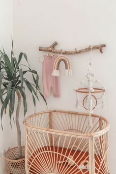 99 Make your nursery feel like home for your new mini with this soft cotton macrame mobile Featuring organic cotton pom pom and tassel accents a rattan ring and is all of course handmade with care in Boho Nursery, Nursery Neutral, Nursery Room, Nursery Decor, Nursery Ideas, Apartment Nursery, Vintage Nursery, Room Ideas, Baby Bedroom