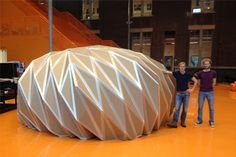 Pop-Up Dome: foldable, self-supporting, instant structure