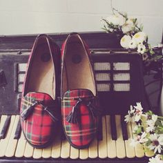plaid. tartan shoes