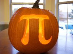 10 Amazing Jack O' Lantern Masterpieces: Pumpkin Pi -- got to love a good pun. Photo by Casey Fleser From DIYnetwork.com