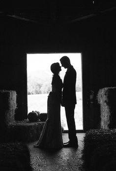barn wedding portrait