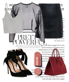 """""""PS."""" by ejayy1215 ❤ liked on Polyvore featuring McQ by Alexander McQueen, Yves Saint Laurent, Gianvito Rossi, Mansur Gavriel and Chanel"""