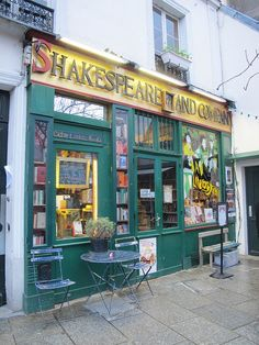 One of my favourite bookshops - Shakespeare & Co - Paris. This is an amazing store with salepeople that know their books!