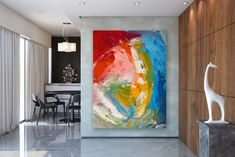 This item is unavailable Large Abstract Wall Art, Large Painting, Large Art, Dark Wood Furniture, Bathroom Wall Art, Affordable Home Decor, Original Paintings, Abstract Paintings, Canvas Art