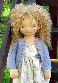 Waldorf doll Savannah  18'' Waldorf inspired doll by SNezinka