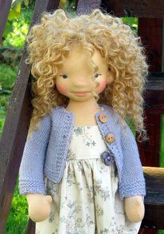 Waldorf Puppe Savannah 18'' Waldorf inspirierte von SNezinka