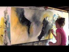 Démonstration de peinture abstraite par Jadis 5 - YouTube