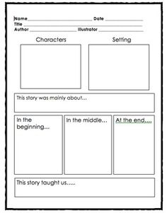 Love how this story map includes a spot for the central message! Reading Resources, Reading Activities, Reading Skills, Guided Reading, 2nd Grade Ela, First Grade Reading, Grade 2, Second Grade, Teaching Writing