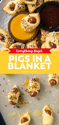 Everything Bagel Pigs in a Blanket are a classic 2-ingredient baked appetizer made even better with a sprinkle of everything bagel seasoning.