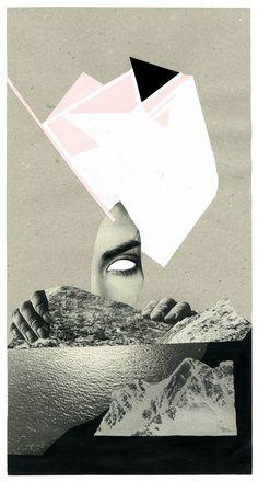 """Saatchi Online Artist: Mia Gato; Paper, 2012, Assemblage / Collage """"Erinnerung"""""""