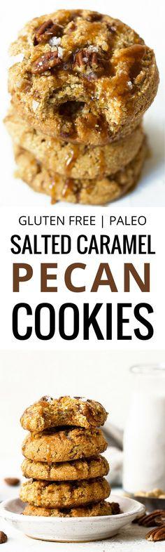 Salted caramel pecan cookies made with raw cashews…