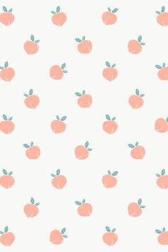 Hand drawn peach patterned background design element | free image by rawpixel.com / marinemynt