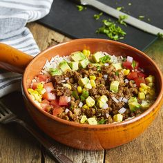 Chef'd Beyond Beef Mexican Bowl Beyond Beef Recipes, Recipe Using, Plant Based, Keto Recipes, Chili, Health Fitness, Soup, Mexican, Yummy Food