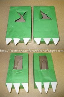 Dinosaur Feet from tissue boxes