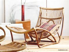 Roost Lars Rattan Collection – Modish Store - chair $870, ottoman $350
