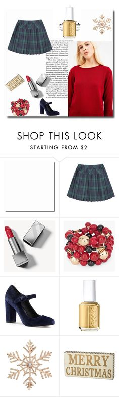 """Christmas Sweater"" by elisabetta-negro on Polyvore featuring moda, Burberry, Chico's, Canvas by Lands' End, Essie, John Lewis, Christmas e sweaterweather"