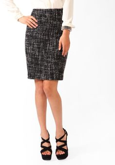 #Forever21                #Skirt                    #Essential #Boucle #Skirt                           Essential Boucle Skirt                              http://www.seapai.com/product.aspx?PID=109644