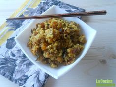 Arroz con frutos secos a la cúrcuma y canela