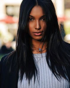 Jasmine Tookes Beautiful skin and hair Beautiful Black Women, Beautiful Eyes, Dark Skin Beauty, Hair Beauty, Black Women Hairstyles, Straight Hairstyles, Native American Beauty, Jasmine Tookes, Natural Hair Styles
