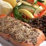 Mustard-Crusted SalmonThis dish makes a simple dinner any night of the week. You might want to consider doubling the batch and using the remaining salmon in a tossed salad the next day.