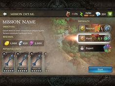Dungeon hunter 5 Mission Detail menu by Panperkin.deviantart.com on @DeviantArt