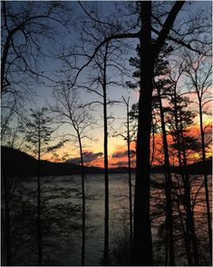 sunset from Cardens Bluff Campground on Watauga Lake