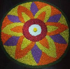 Diwali Decorations, Flower Decorations, Wedding Decorations, Rangoli Designs Flower, Flower Rangoli, Onam Pookalam Design, Hobbies And Crafts, Arts And Crafts, Latest Rangoli