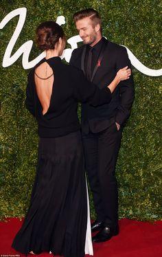 David and Victoria Beckham at 2014 British Fashion Awards #dailymail