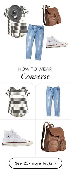 """""""Untitled #1"""" by meghan-gerue on Polyvore featuring MANGO, H&M and Converse"""