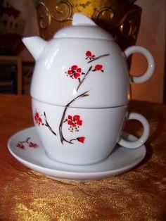 THEIERE EGOÏSTE 'fleurs de prunier du Japon'' : Vaisselle, verres par miya