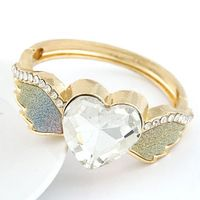 2014 New Fashion Hot Sale Women's/Girl's Love Heart Austrian Crystal  Bracelet