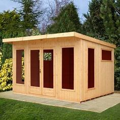 Fleetwood 12 x 10 Ft. Shiplap Summer House Sol 72 Outdoor Installation Available: Yes Wooden Summer House, Corner Summer House, Summer House Garden, Home And Garden, Summer Houses, Small Canopy, Garden Buildings, Garden Office, Gardens