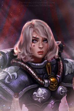 imperium portrait prywinko sisters_of_battle Warhammer 40k Art, Warhammer Fantasy, Inspiration Drawing, Character Inspiration, Style Inspiration, Character Portraits, Character Art, Character Ideas, High Fantasy