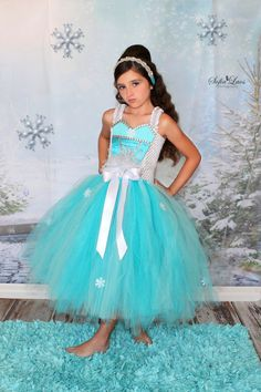 Elsa frozen inspired tutu dress......geart for by tutuglamourous