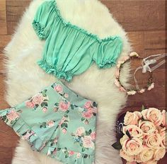 US Toddler Kids Baby Girl Summer Ruffle Dress Tops Floral Short Pants Outfit Set Cute Casual Outfits, Girly Outfits, Cute Summer Outfits, Short Outfits, Outfits For Teens, Summer Clothes, Mode Rockabilly, Kids Fashion, Fashion Outfits