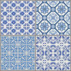 azulejos azuis