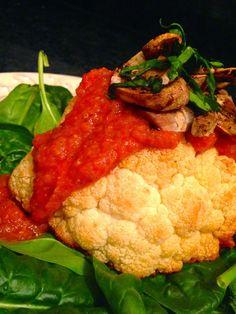 glutenfreehappytummy: Cozy Golden Cauliflower with Red Sauce! GF, Vegan, SCD & Paleo!