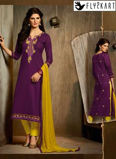 Purple and Yellow coloured cotton salwar suit http://www.fly2kart.com/purple-and-yellow-coloured-cotton-salwar-suit.html?utm_content=bufferaa4cd&utm_medium=social&utm_source=pinterest.com&utm_campaign=buffer BIG OFFER SALE UP TO 50% OFF!!! +91-8000800110 CALL OR WHATSAPP