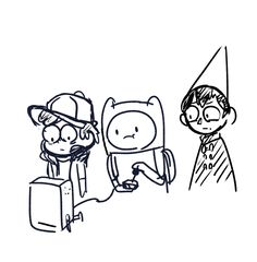 Select character 2/2. Bad End Friends. Adventure Time (Finn Ice Prince), Gravity Falls, Over the Garden Wall (Beast Wirt)