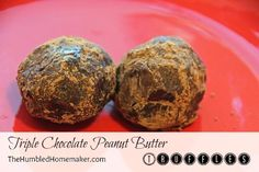 Chocolate Peanut Butter Truffles (Need to sub for the honey and choc. chips to make it low carb).