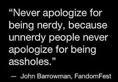 Talk nerdy to me.