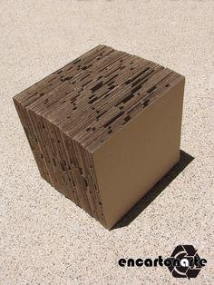 Encartonarte - puf cubo