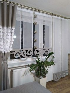 Dekoration - curtains - Organize Home Basics What do you expect out of an article Classy Living Room, Bohemian Living Rooms, Window Coverings, Window Treatments, Painted Curtains, Rideaux Design, Curtain Designs, Curtain Ideas, French Furniture