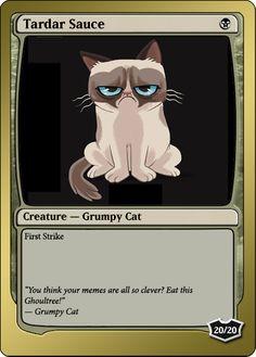 Grumpy Cat Magic Card - by me. #GrumpyCat #MagicTheGathering